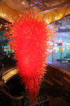 large red art glass crystal chandelier